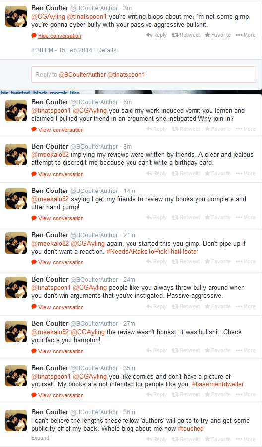spurious attacks on anyone who dares to question Ben Coulter